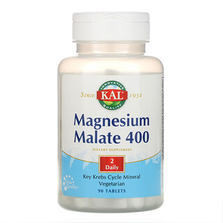 KAL, Magnesium Malate 400, 90 Tablets