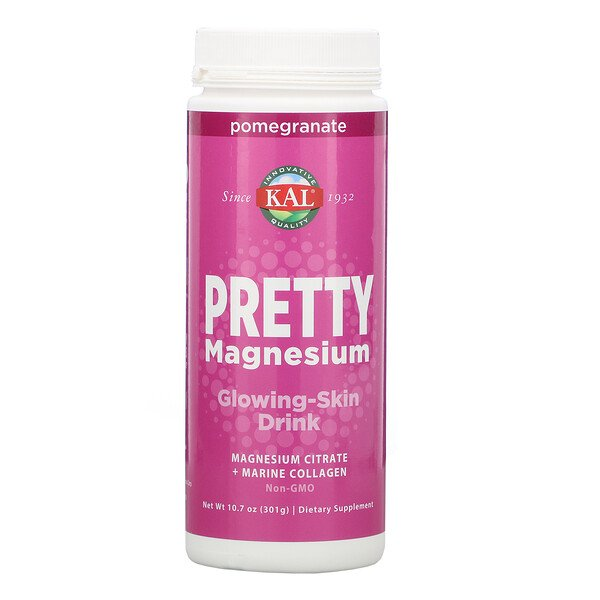 KAL, Pretty Magnesium, Glowing-Skin Drink, Pomegranate, 10.7 oz (301 g)
