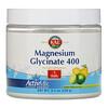KAL, Magnesium Glycinate 400, Lemon Lime, 9.1 oz (258 g)