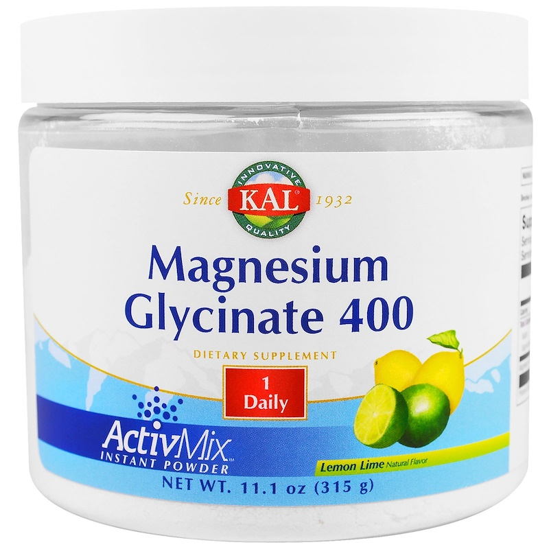 Magnesium Glycinate 400, Lemon Lime, 11.1 oz (315 g)