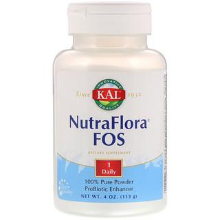 KAL, NutraFlora FOS, 4 oz (113 g)