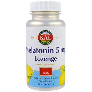 КАЛ, Melatonin Lozenge, Natural Lemon Flavor, 5 mg, 60 Lozenges отзывы