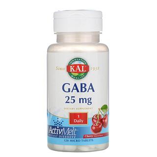 KAL, GABA,樱桃味,25 毫克,120 片微片