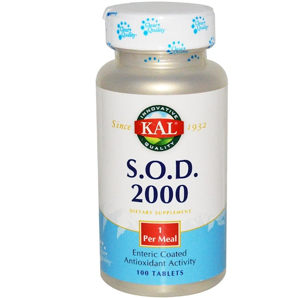 KAL, S.O.D. 2000, 100 Tablets (Discontinued Item)