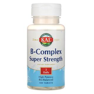KAL, B-Complex Super Strength, 100 Tablets