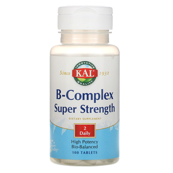 B-Complex Super Strength, 100 Tablets