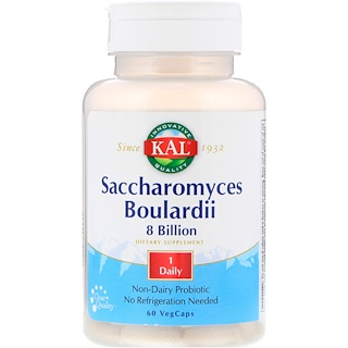 KAL, Saccharomyces Boulardii, 8 Billion, 60 VegCaps