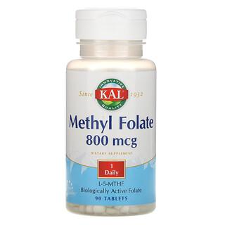 KAL, 甲基叶酸,800 微克,90 片