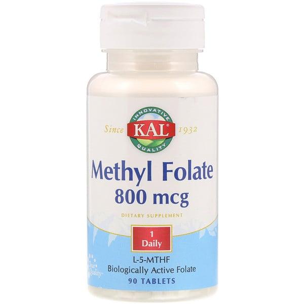 KAL, Metil Folato, 800 mcg, 90 comprimidos