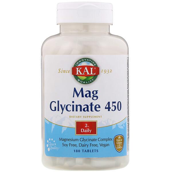KAL, جليسينات الماغنسيوم 450، 450 مجم، 180 قرص (Discontinued Item)
