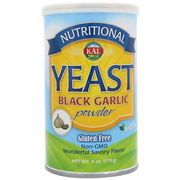 KAL, Nutritional Yeast, Black Garlic Powder, 6 oz (170 g)