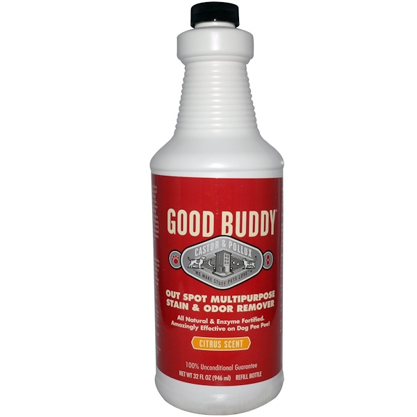 Castor & Pollux, Good Buddy, Out Spot Multipurpose Stain & Odor Remover, Citrus Scent, 32 fl oz (946 ml) (Discontinued Item)