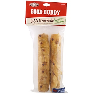 Castor & Pollux, Goody Buddy, USA Rawhide, Chicken Flavored Rolls, 2 Rolls, 7 in (17.7 cm)