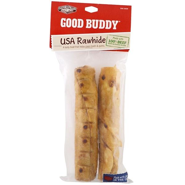 Castor & Pollux, Guter Kumpel, USA Hundekau-Snack, Rollen mit Hühnchengeschmack, 2 Rollen