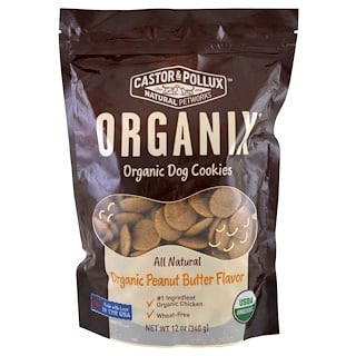 Castor & Pollux, Organix, Bio-Hundekekse, Erdnussbuttergeschmack, 12 oz (340 g)