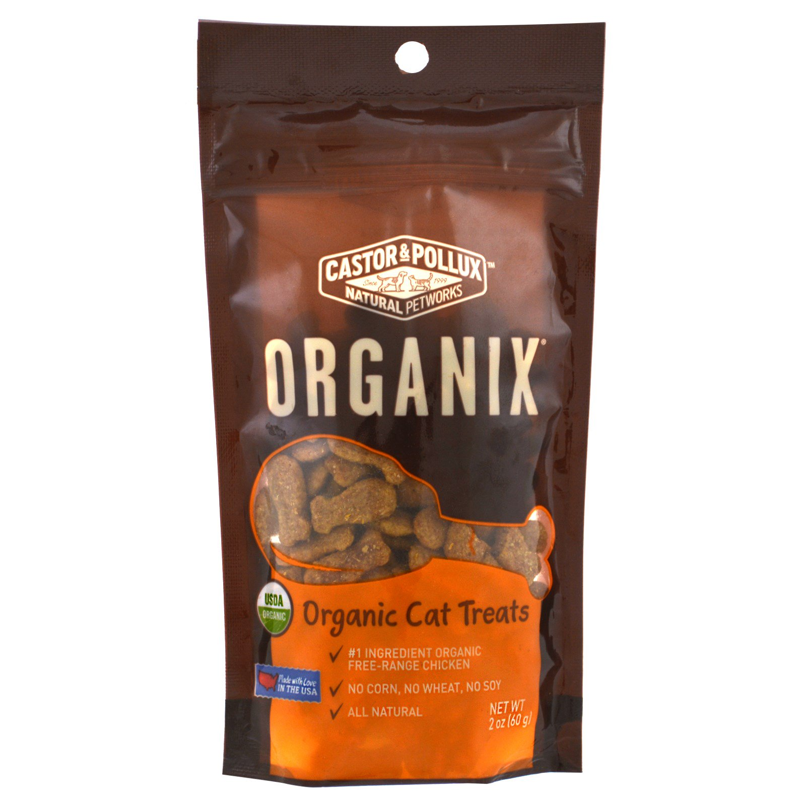Castor Pollux Organix Organic Cat Treats Organic Chicken Flavor