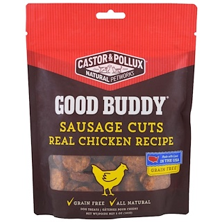 Castor & Pollux, Good Buddy, Sausage Cuts, Real Chicken Recipe, 5 oz (141 g)
