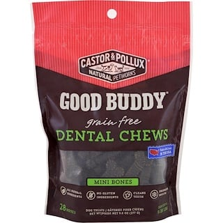 Castor & Pollux, Good Buddy, Dental Chews, Mini Bones, For Dogs, 28 Bones
