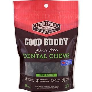 Castor & Pollux, Guter Kumpel, Zahnreinigungssnacks, Mini-Knochen, Für Hunde, 28 Knochen