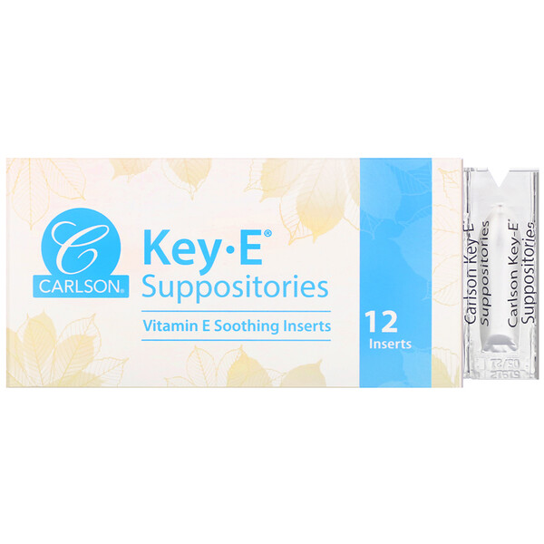 Key-E Suppositories, 12 Inserts