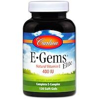 E-Gems Elite, 400 IU, 120 Soft Gels - фото