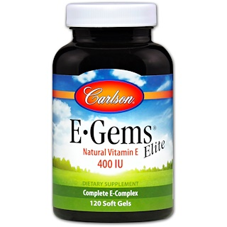 Carlson Labs, E-Gems Elite, 400 IU, 120 Soft Gels