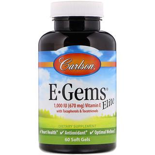 Carlson Labs, E-Gems Elite, 1,000 IU, 60 Soft Gels