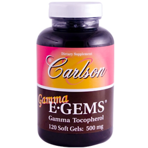 Carlson Labs, Gamma E•Gems, Gamma Tocopherol, 500 mg, 120 Soft Gels (Discontinued Item)