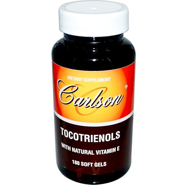 Carlson Labs, Tocotrienols with Natural Vitamin E, 180 Soft Gels (Discontinued Item)