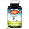 Carlson Labs, Витамин К2, менатетренон, 5 мг, 180 капсул