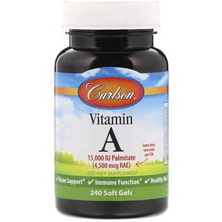 Carlson Labs, Vitamin A, 15,000 IU, 240 Soft Gels