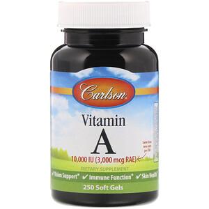 Карлсон Лэбс, Vitamin A, 10,000 IU, 250 Soft Gels отзывы