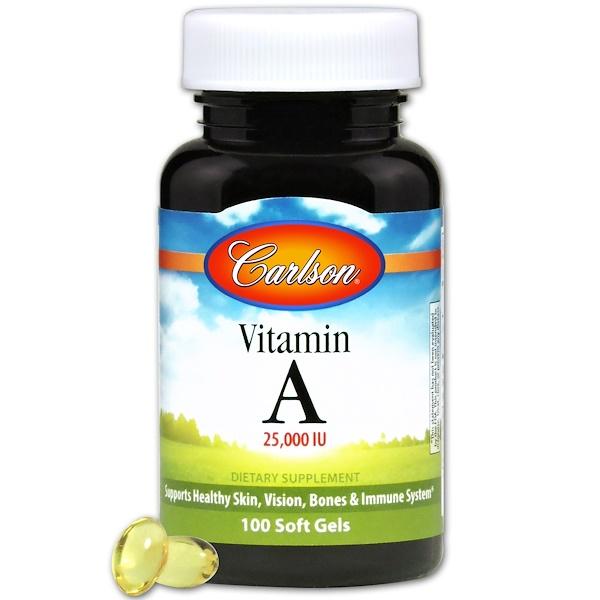 Carlson Labs, 비타민 A, 25,000 IU, 천연, 100 소프트젤
