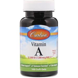 Карлсон Лэбс, Vitamin A, 25,000 IU, 100 Soft Gels отзывы