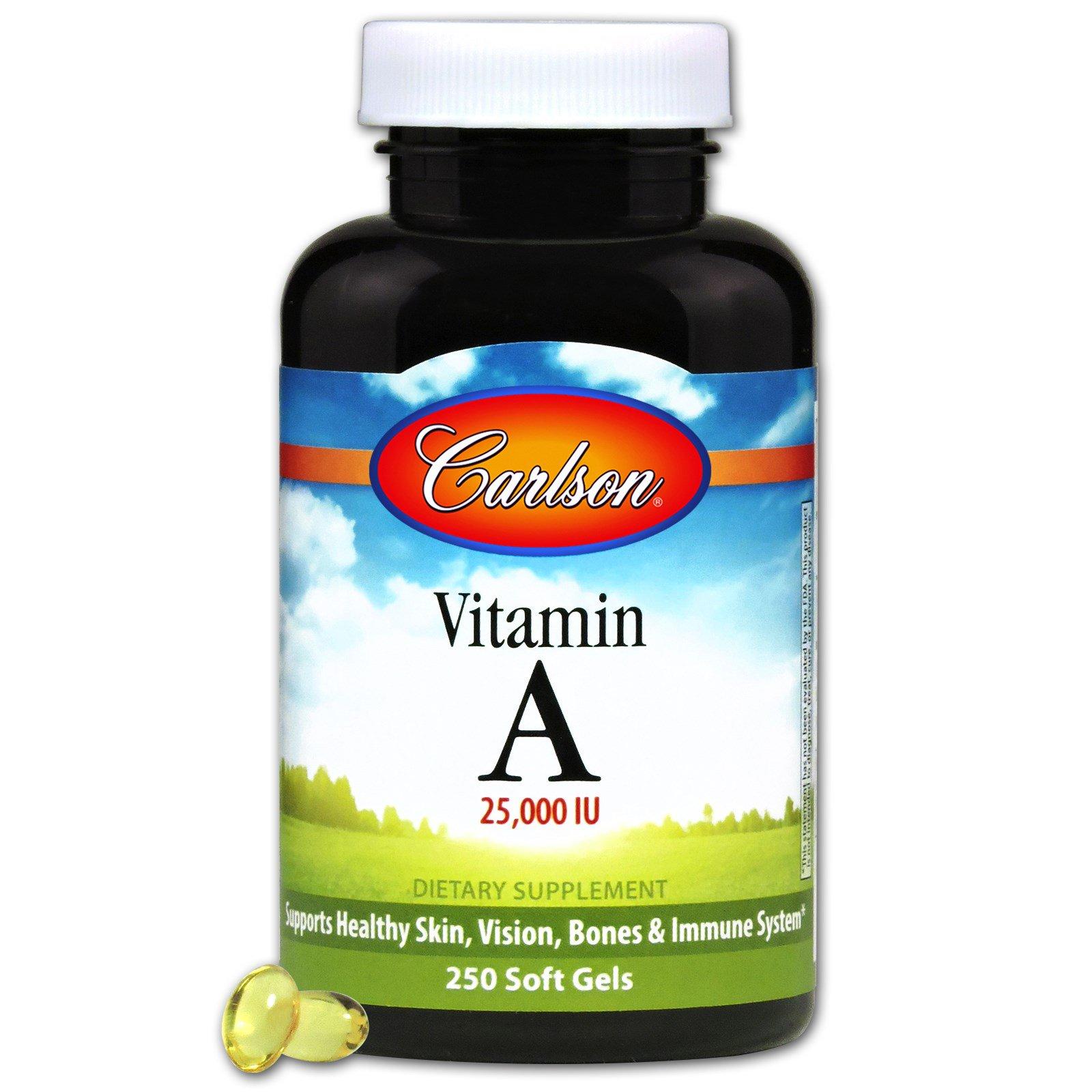 Carlson Labs, Витамин А, 10000 МЕ, 250 капсул
