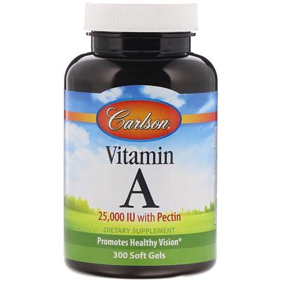 Купить Carlson Labs ВитаминA, 25 000МЕ, 300мягких таблеток