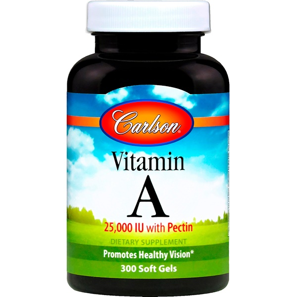 Carlson Labs, Vitamin A, 25,000 IU, 300 Softgels