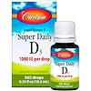 Carlson Labs, Super Daily D3, 1,000 IU, 0.35 fl oz (10.3 ml)