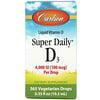 Carlson Labs, Super Daily D3, 100 mcg (4,000 IU), 0.35 fl oz (10.3 ml)