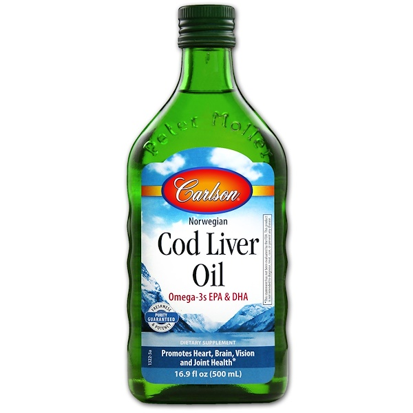 Carlson Labs, Norwegian Cod Liver Oil, Regular Unflavored, 16.9 fl oz (500 ml)