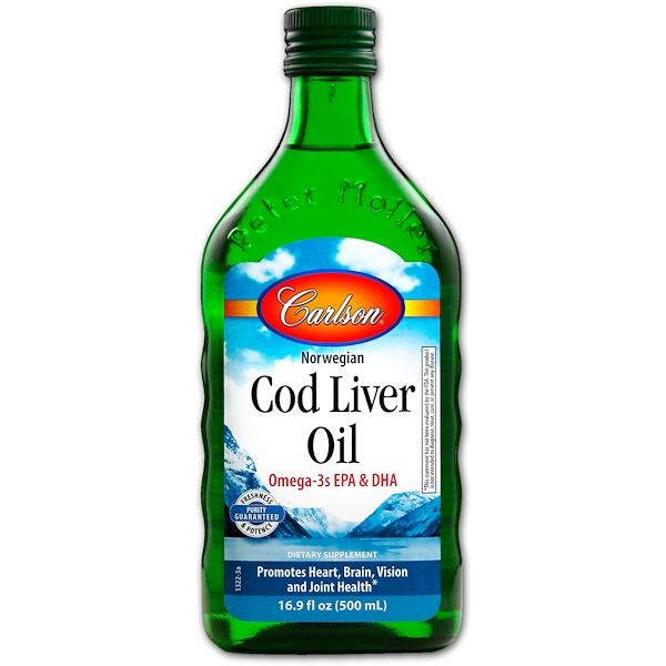 Carlson Labs, Norwegian Cod Liver Oil, Regular Unflavored, 16、9 fl oz (500 ml)