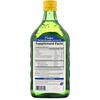 Carlson Labs, жир печени дикой норвежской трески, натуральный лимонный вкус, 500мл (16,9 жидк. унции)
