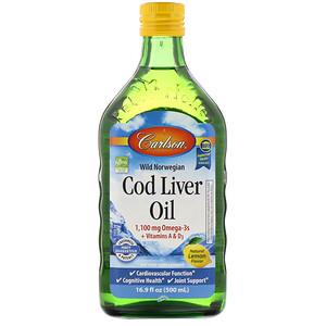 Карлсон Лэбс, Wild Norwegian, Cod Liver Oil, Natural Lemon Flavor, 16.9 fl oz (500 ml) отзывы покупателей