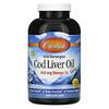 Carlson Labs, Wild Norwegian, Cod Liver Oil Gems, Natural Lemon Flavor, 230 mg, 300 Soft Gels