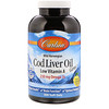 Carlson Labs, Cod Liver Oil Gems, Low Vitamin A, Natural Lemon Flavor, 300 Soft Gels