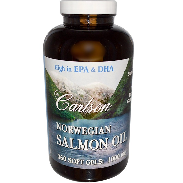 Carlson Labs, Norwegian Salmon Oil, 1000 mg, 360 Soft Gels (Discontinued Item)