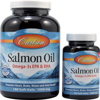 Carlson Labs, Norwegian Salmon Oil, 1,000 mg, 180 + 50 Free Soft Gels