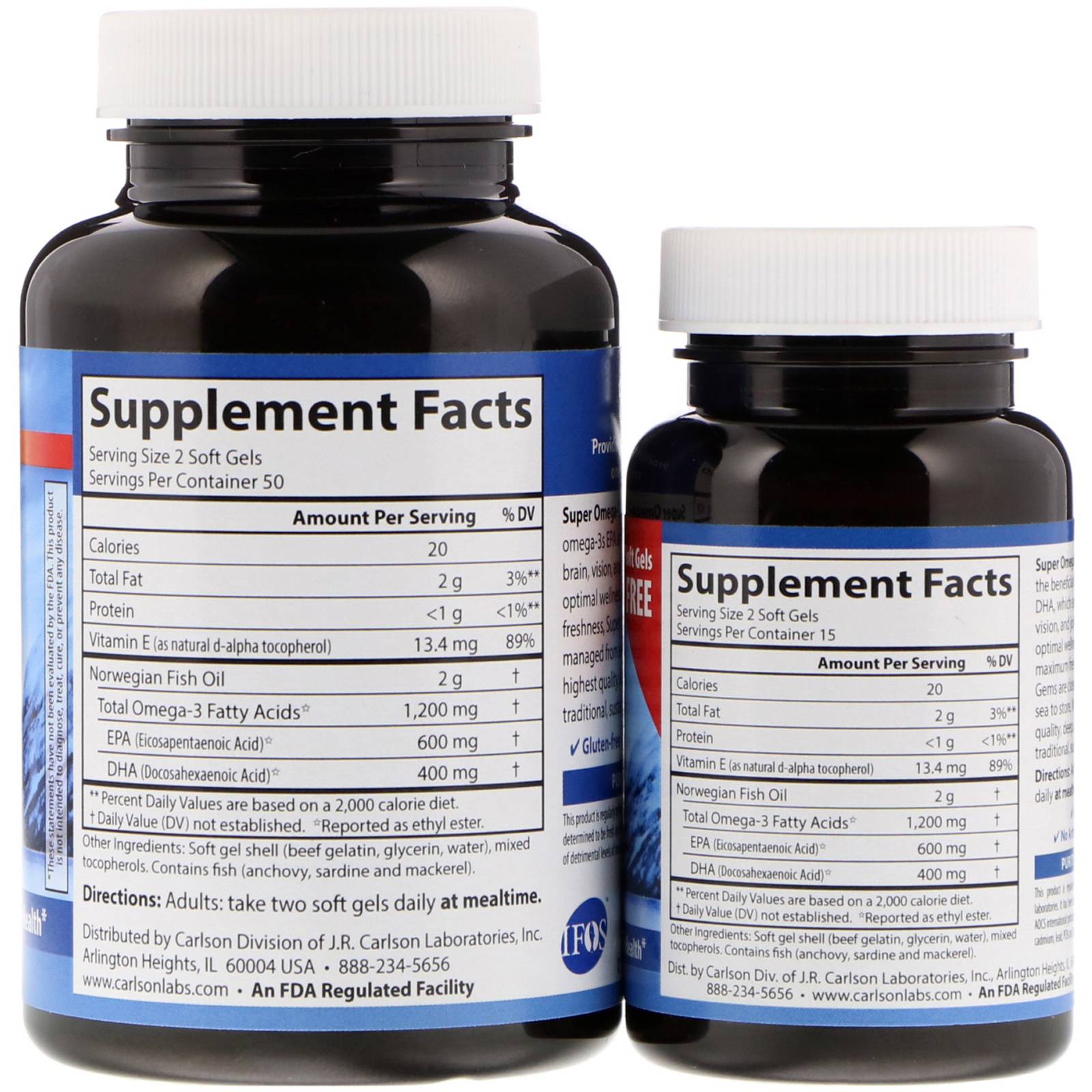 Carlson Labs Wild Caught Super Omega 3 Gems 1200 Mg 100 30 Wellness 1000 150 Buy 1 Get Free Click To Zoom