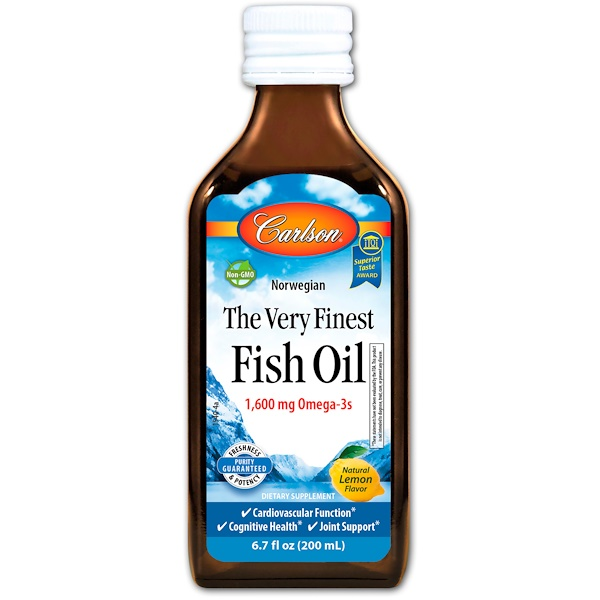 Carlson Labs, The Very Finest Fish Oil, Norwegian, Lemon, 6.7 fl oz (200 ml)