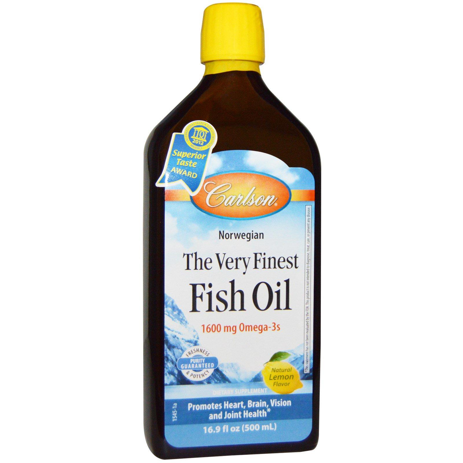 Carlson Labs, Норвежский, самый лучший рыбий жир, естественный вкус лимона, 16,9 жидк. унц. (500 мл)